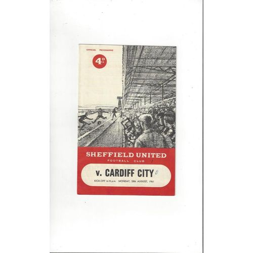 1961/62 Sheffield United v Cardiff City Football Programme