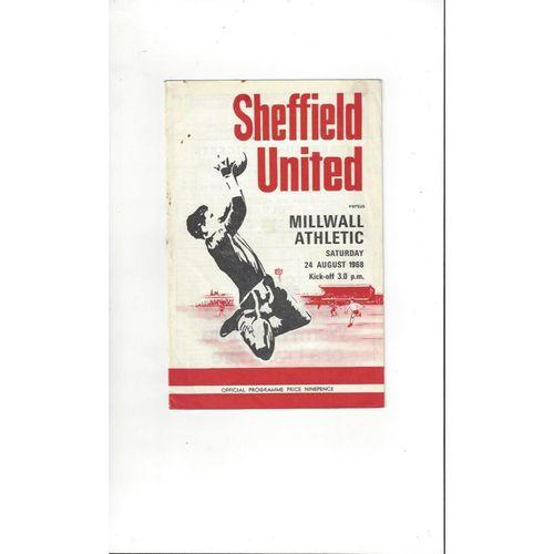 1968/69 Sheffield United v Millwall Football Programme