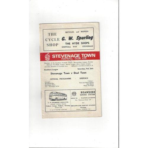 Stevenage Borough Football Programmes