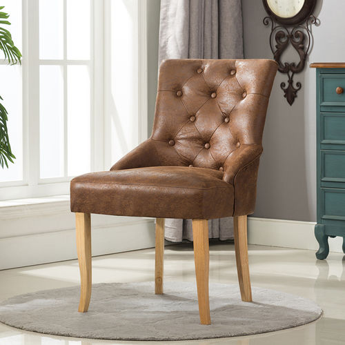 Adele Fabric Accent Chair Dining Chair Scoop Back (Brown) | MCC ...