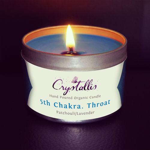 Organic Chakra Candle Throat - 5th Chakra