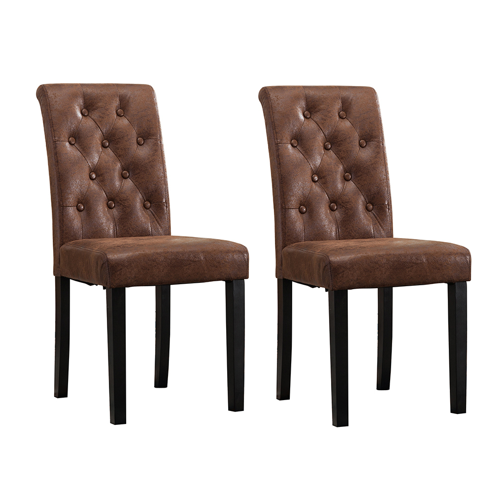 dining chairs brown. Fabio Lined Fabric Dining Chairs (Brown) Brown