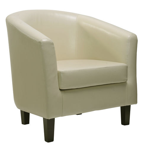 Ted Faux Leather Tub Chair Chair (cream)