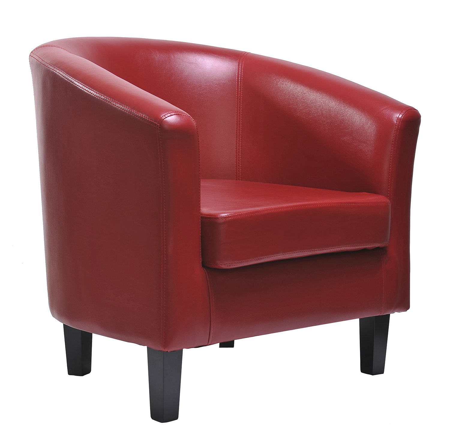 Ted Faux Leather Tub Chair Chair (red)