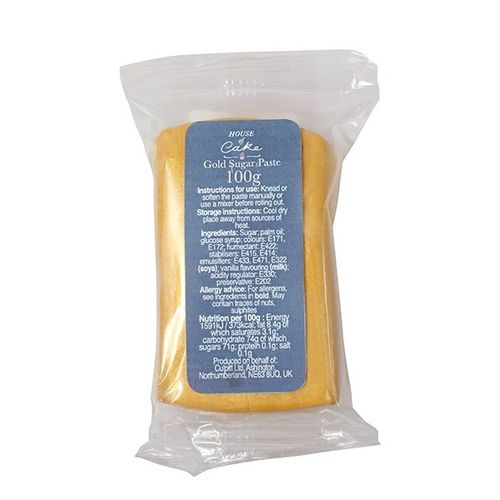 House of Cake Gold sugar paste 100g