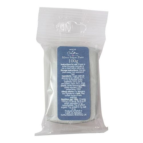 House of Cake Silver sugar paste 100g