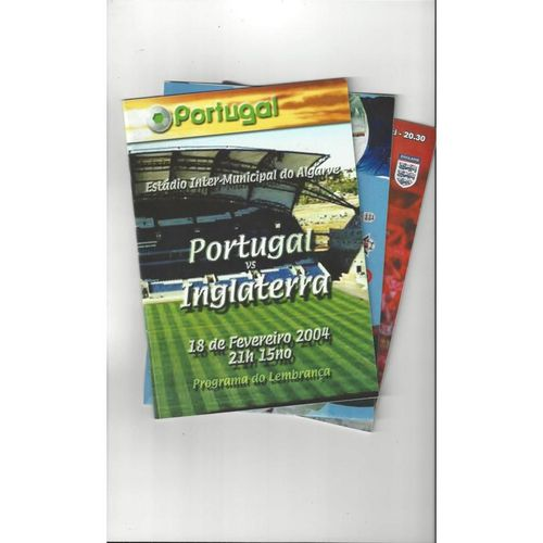 5 England Away's Football Programmes 2004 to 2008 All Single Items