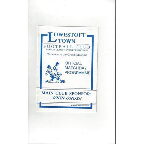 Lowestoft v Tamworth FA Cup Football Programme 1993/94