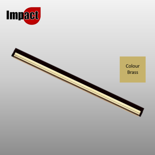 Impact Brass Window Cleaning Squeegee Channel Only