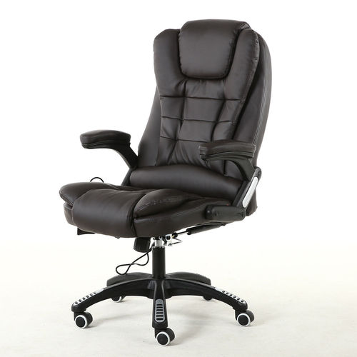 Oscar Executive Faux Leather Massage Heating Office chair (Brown)