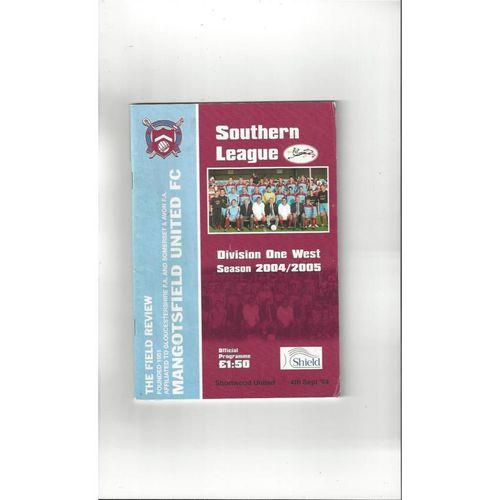 2004/05 Mangotsfield United v Shortwood United FA Cup Football Programme