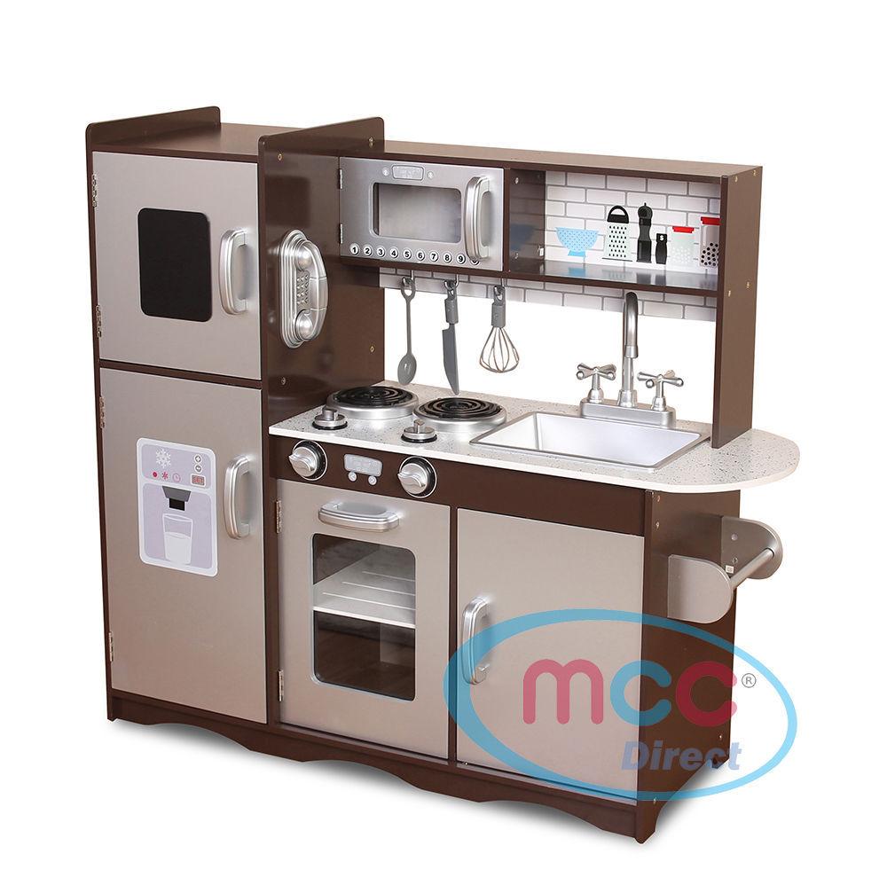 Awe Inspiring Large Kids Grey Wooden Play Kitchen Grey Mcc Trading Ltd Download Free Architecture Designs Viewormadebymaigaardcom