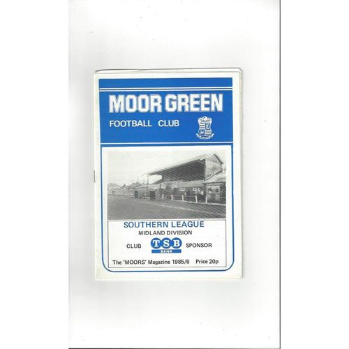 Moor Green v Wednesfield Social FA Cup Football Programme 1985/86