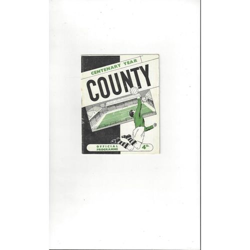Notts County v Yeovil Town FA Cup Football Programme 1961/62