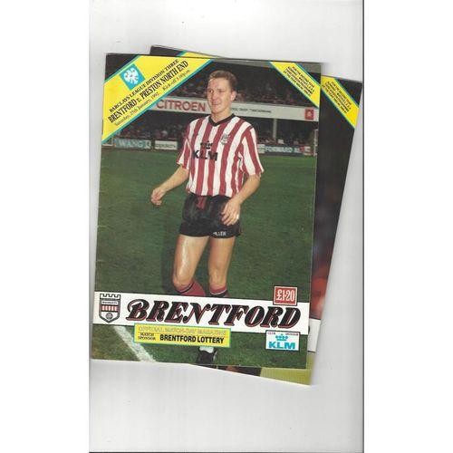 7 Brentford Football Programmes 1991/92 All Single Items