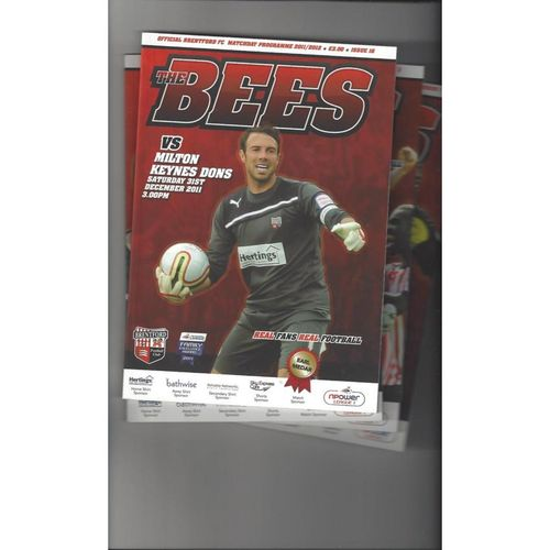 9 Brentford Football Programmes 2011/12 All Single Items