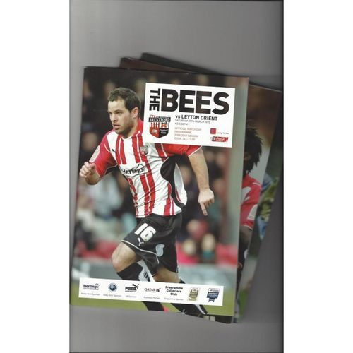 10 Brentford Football Programmes 2009/10 All Single Items