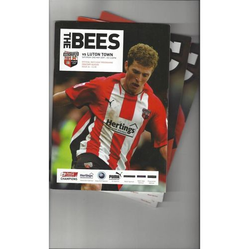 7 Brentford Football Programmes 2008/09 All Single Items