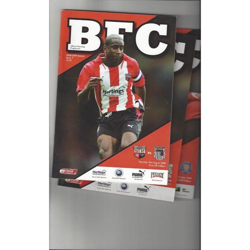 8 Brentford Football Programmes 2008/09 All Single Items