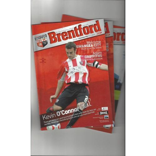 9 Brentford Football Programmes 2006/07 All Single Items
