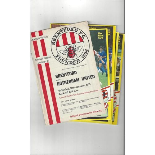 17 Brentford Football Programmes 1972/73 - 2016/17 All Single Items