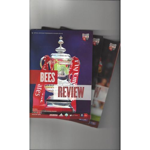10 Brentford Football Programmes 2015/16 All Single Items Inc's Special Edition