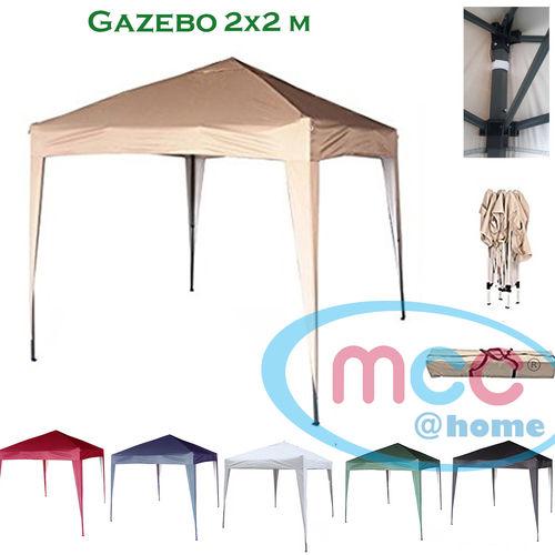 2m x 2m Gazebo Resistant Outdoor Garden Marquee Canopy (Beige)