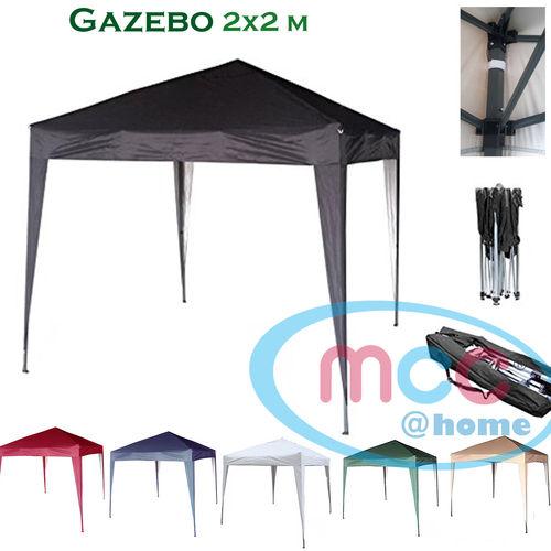 2m x 2m Gazebo Resistant Outdoor Garden Marquee Canopy (Black)