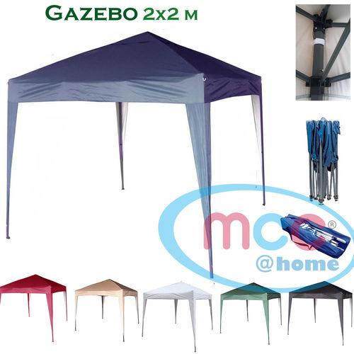 2m x 2m Gazebo Resistant Outdoor Garden Marquee Canopy (Blue)