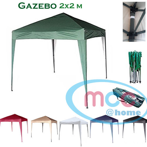 2m x 2m Gazebo Resistant Outdoor Garden Marquee Canopy (Green)