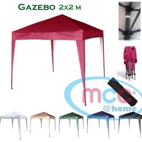 2m x 2m Gazebo Resistant Outdoor Garden Marquee Canopy (Red)