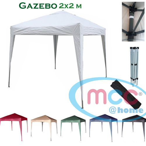 2m x 2m Gazebo Resistant Outdoor Garden Marquee Canopy (White)