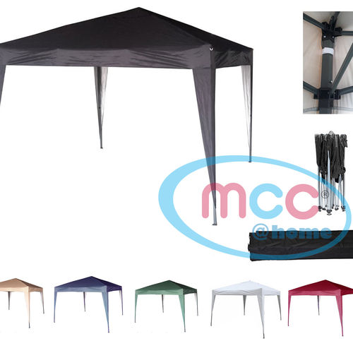 3m x 3m Gazebo Resistant Outdoor Garden Marquee Canopy (Black)
