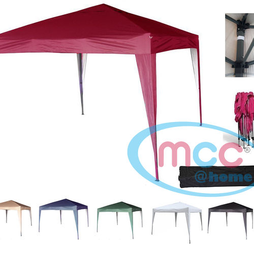 3m x 3m Gazebo Resistant Outdoor Garden Marquee Canopy (Red)