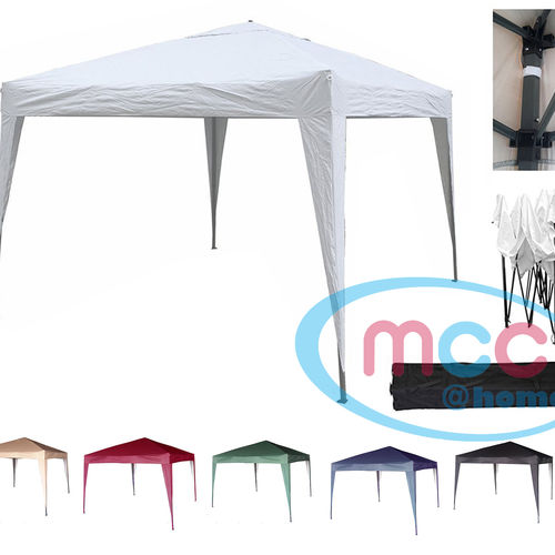 3m x 3m Gazebo Resistant Outdoor Garden Marquee Canopy (White)