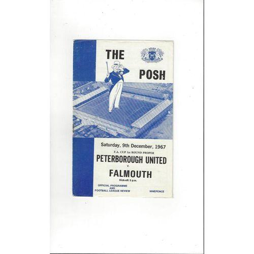 1967/68 Peterborough United v Falmouth FA Cup Football Programme