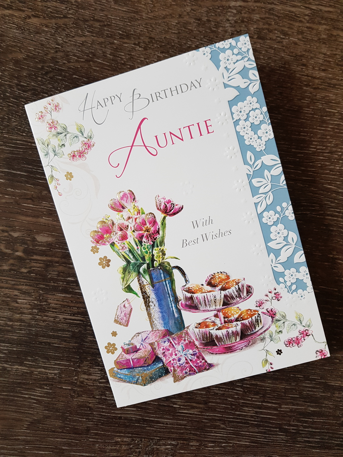 Auntie Flowers Presents Birthday Card Remember That Card