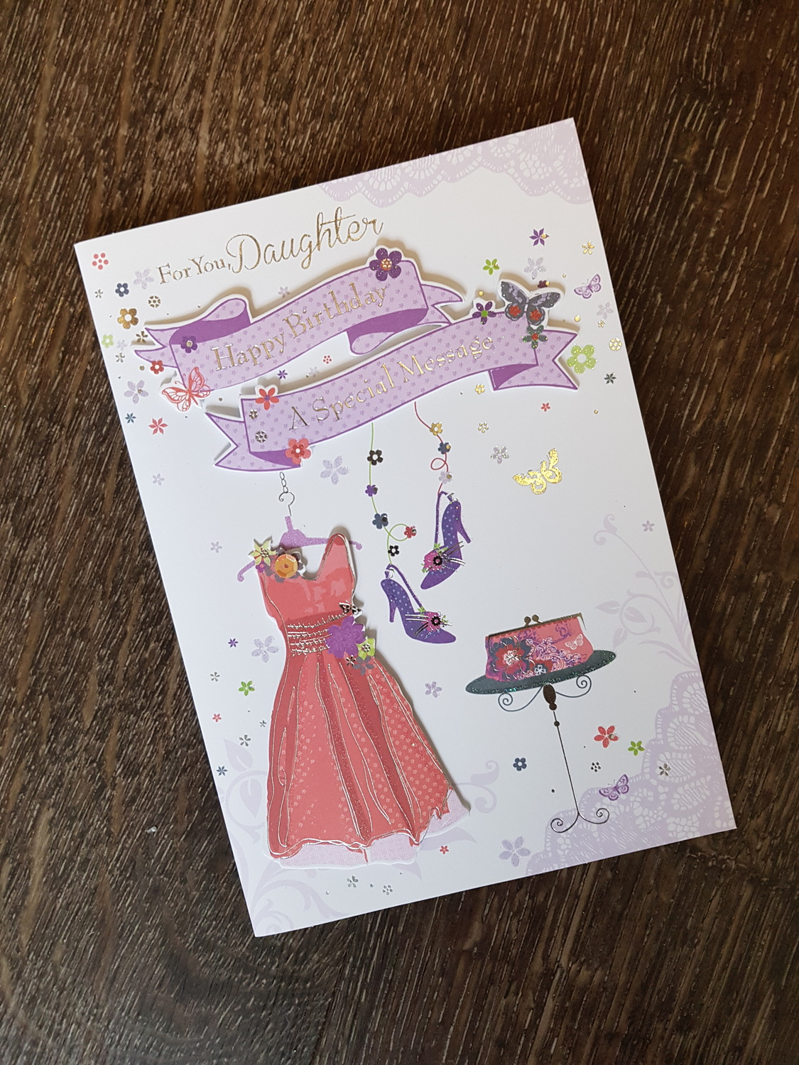 Daughter Dress Shoes Birthday Card