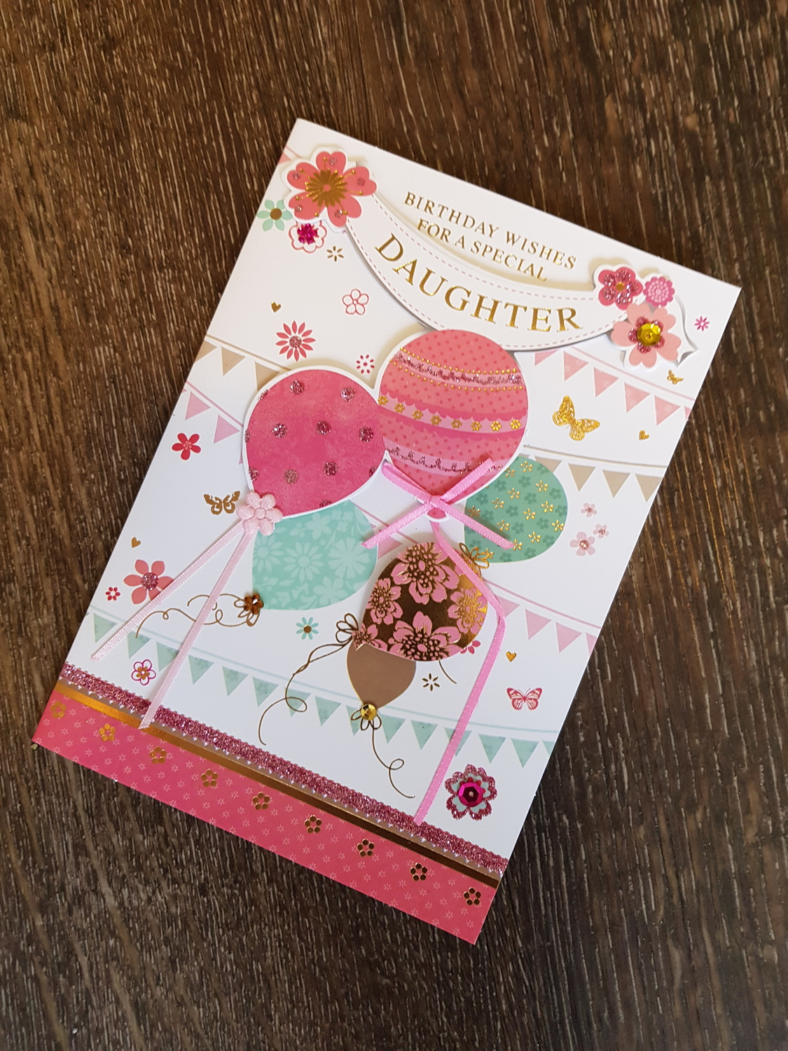 Daughter Coloured Balloons Birthday Card Remember That Card