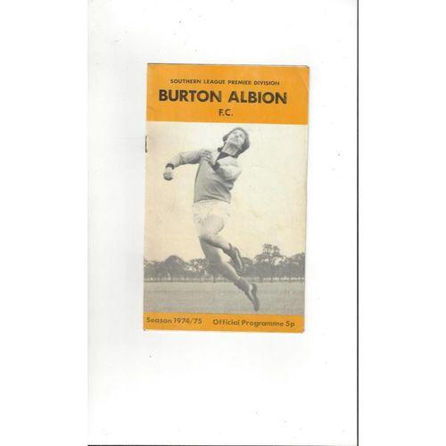 1974/75 Burton Albion v Wealdstone Football Programme