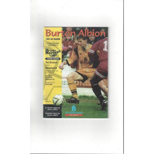 Burton Albion Home Football Programmes