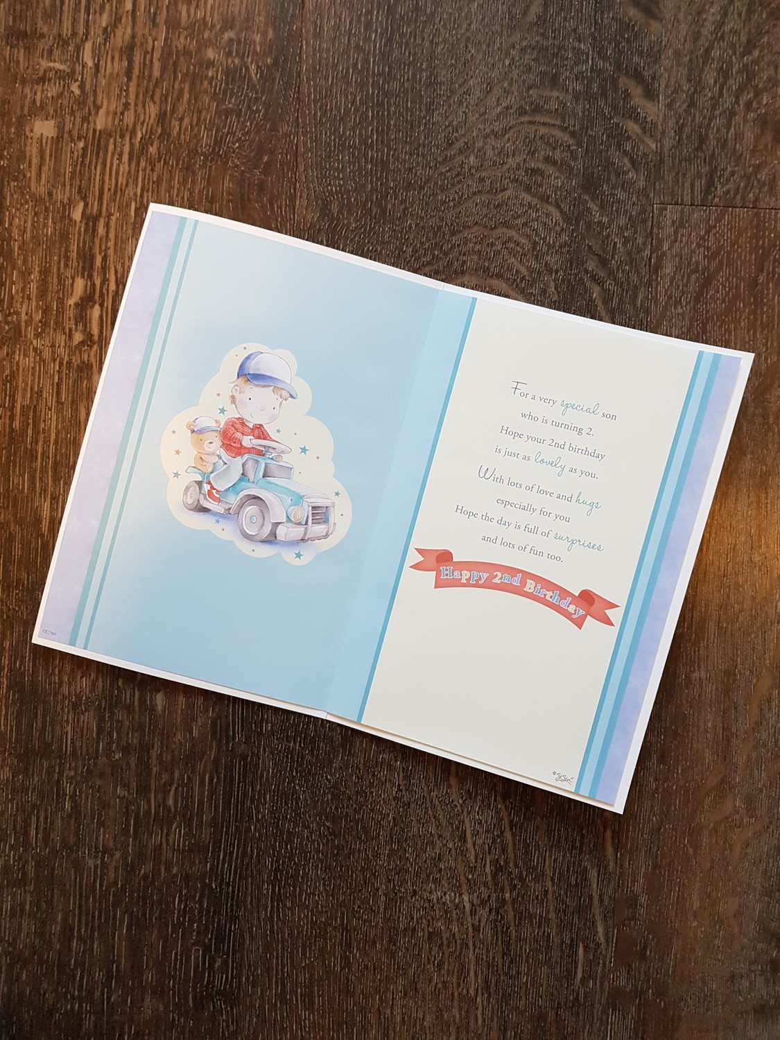 Son 2nd birthday car teddy card remember that card greeting son 2nd birthday car teddy card kristyandbryce Choice Image