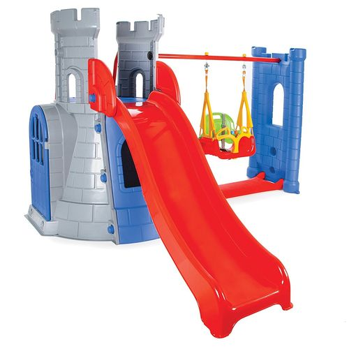 Castle Slide and Swing Set