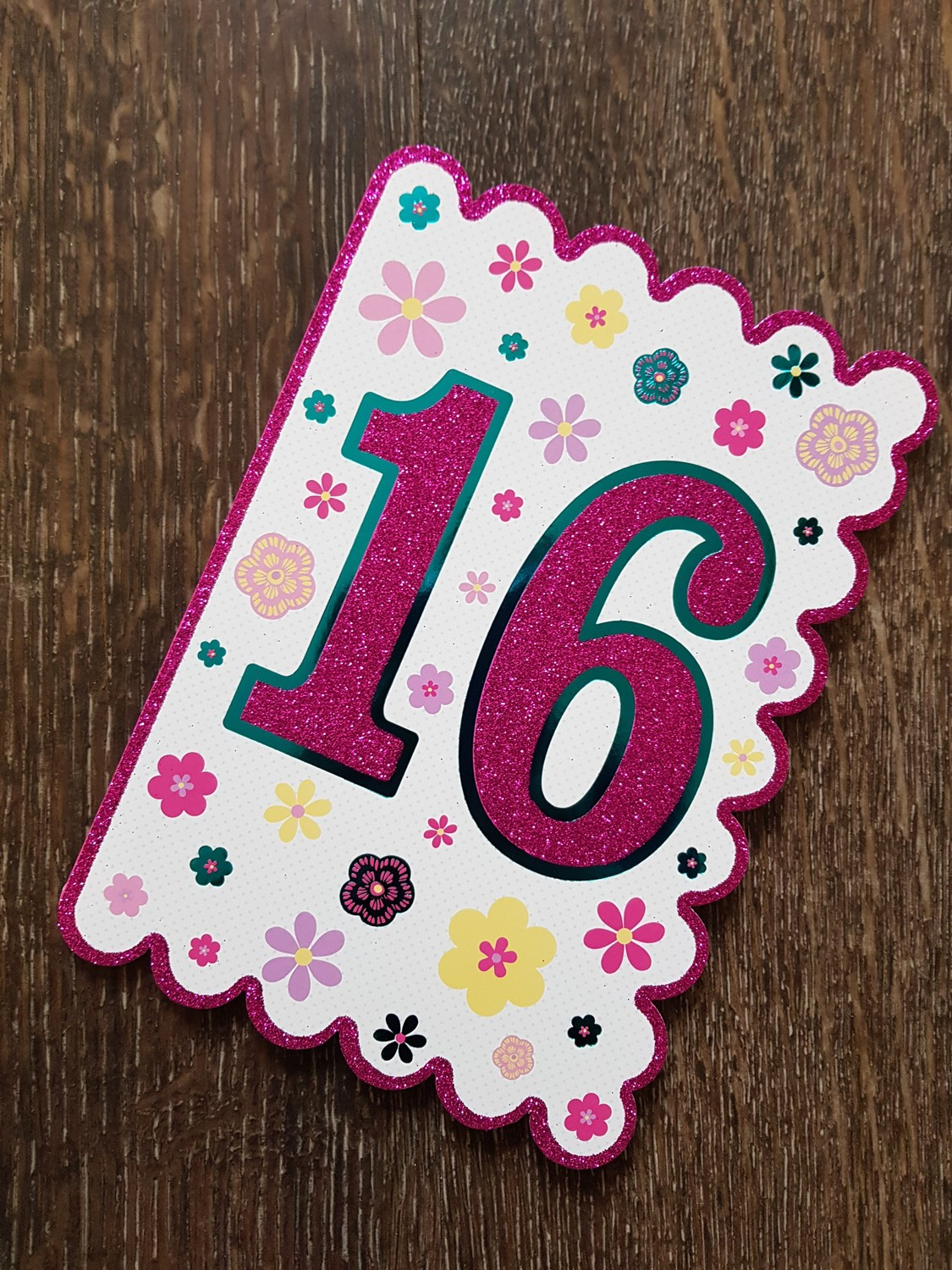 16th Birthday Pink Flowers Card Remember That Card Greeting