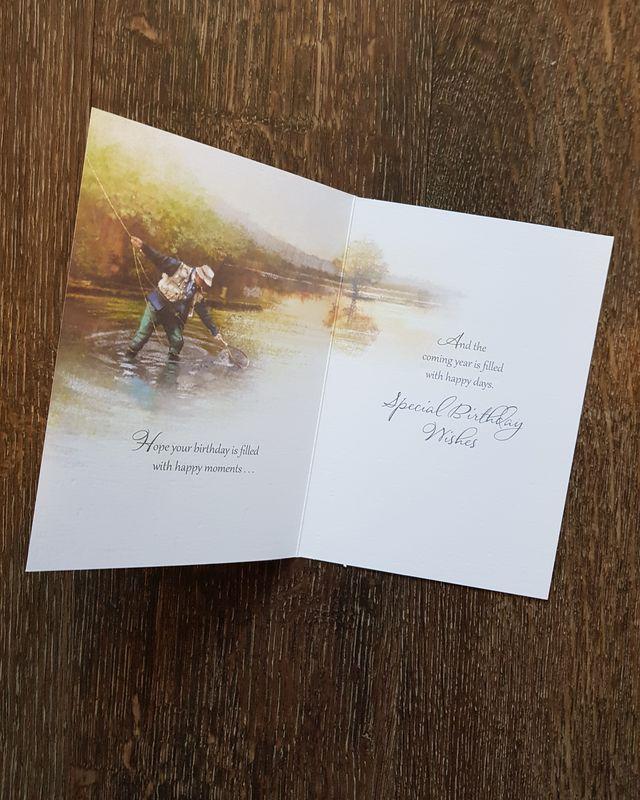 Happy Birthday Man Fishing Card