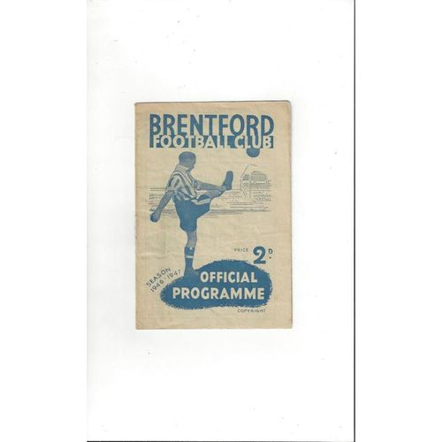 1946/47 Brentford v Cardiff City FA Cup Football Programme