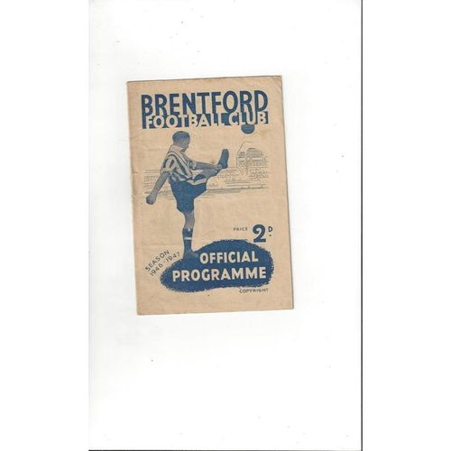 1946/47 Brentford v Sheffield United Football Programme