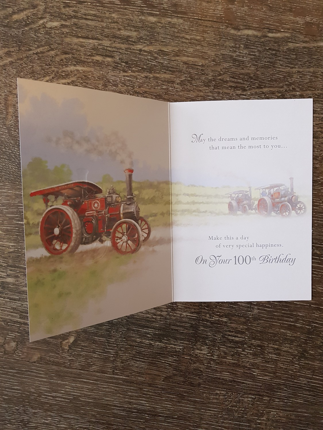 100th Birthday Red Steam Engine Card Remember That Card Greeting