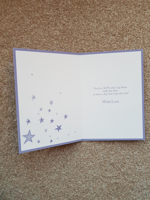 Son Stars Birthday Card