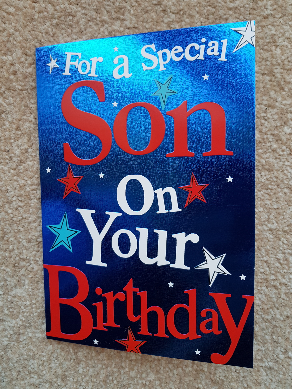 Son Stars Birthday Card